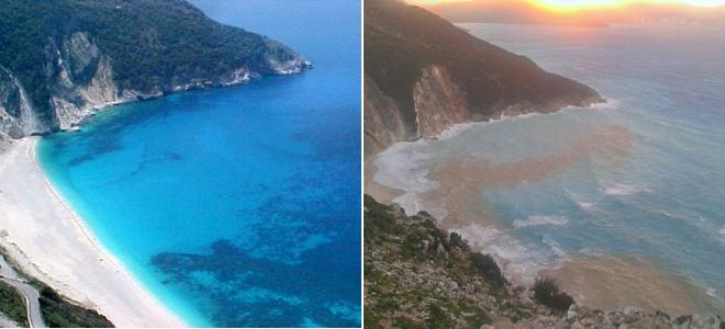 Plaja Myrtos, din Kefalonia, va fi redeschisa saptamana aceasta